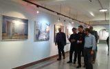 هادی مظفری، از نمایشگاه نقاشان نوگرای البرز دیدن کرد