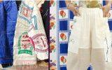 طراحی لباس با گونی برنج که مورد استقبال قرار گرفت