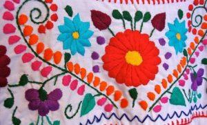 پارچه گل_دوزی شده مکزیکی