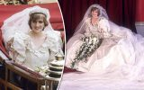 نمایش عمومی لباس عروسی شاهدخت دایانا بعد از ۲۵ سال در نمایشگاه سلطنتی کاخ کنزینگتون