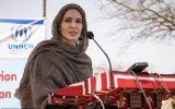 سخنرانی آنجلینا جولی با روسری به مناسبت روز جهانی پناهندگان